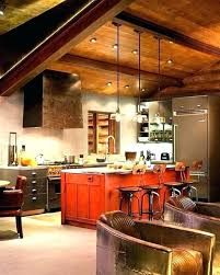plain cabin sublime rustic cabin lighting kitchen triple pendant lights design with vaulted ceiling of and vaulted ceiling lighting cabin haberek house