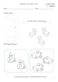 Worksheet On Number 3 Printable Preschool Worksheets Free Tracing 1 ...