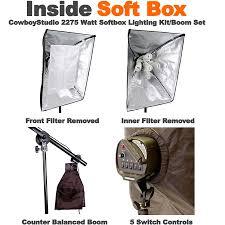 cowboystudio 2275 watt digital continuous softbox lighting kit boom set review