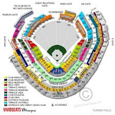 Atlanta Braves Stadium Seating Chart Seating Chart