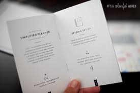 The Simplified Planner By Emily Ley Its A Colo U Rful World