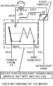 headlight control upgrade simplified diagram for reference