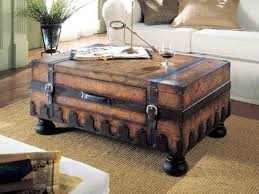amazing leather steamer trunk coffee table on home decor ideas about