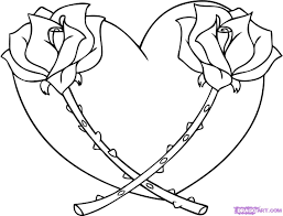 Small Picture Bbeautiful rose heart valentine coloring pages for adults FREE