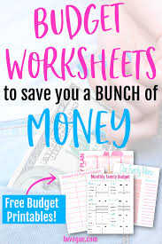 Free Family Budgeting Worksheets The 6 Most Popular Free Budget Printables Lw Vogue