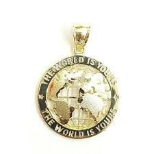 new 10k yellow gold round globe planet