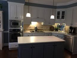 Pickled Maple Kitchen Cabinets Horizon Cabinets Gull Wing Gray Island 2 Cabinet Girls