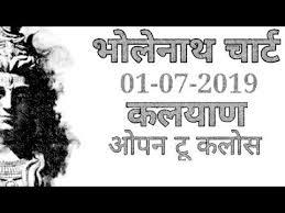 Videos Matching 01 07 2019 Kalyan Free Bholenath Chart Kala