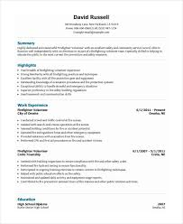 Firefighter Resume Objective Examples Best of Volunteer Firefighter Resume Resume Templates Pinterest
