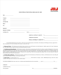 Contract Release Form