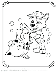 Coloring Pages Of Paw Patrol Rubble Paw Patrol Coloring Page Paw