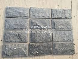 exterior stone wall tile. Brilliant Wall Black Quartzite Mushroom Stones Exterior Stone Cladding Wall Tiles  Landscaping On Tile