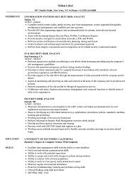 Security Risk Analyst Resume Samples Velvet Jobs