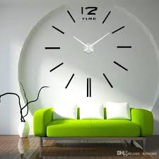 the sitting room of wall clock stick fashion simple stickers on big