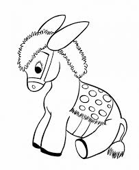 Small Picture Donkeys Coloring Pages Donkey Christmas Animal Printable Kong The