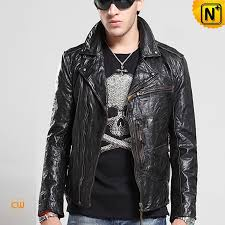 mens distressed leather jacket cw850204 cwmalls com