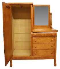 furniture examples. Chifferobe | 345: ANTIQUE AMERICAN BIRDS EYE MAPLE CHIFFEROBE : Lot 345 Furniture Examples I