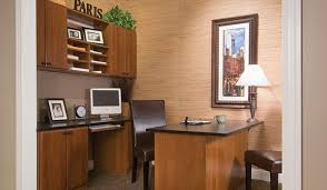 Image Rustic Home Office Organization System With Custom Desk Credenza And Upper Wall Unit Closet Works Closet Works Home Office Storage Ideas And Organization Systems