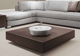 classy square mahogany wood low cube coffee table