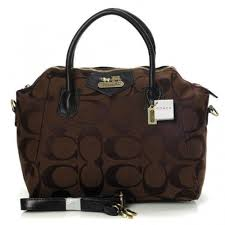 Coach Logo In Monogram Medium Coffee Satchels BOF