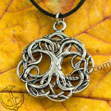 celtic tree of life knotted tin pendant