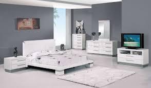 Bedrooms Contemporary Platform Bed Bedroom Furniture Sets White