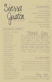 Modern Wedding Ceremony Program Wedding Party Bridal Party