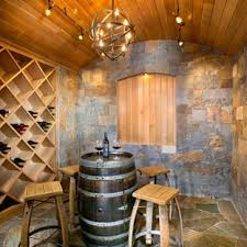 Wine cellar lighting Designer Wine Inspiration For Midsized Mediterranean Multicolored Floor And Slate Floor Wine Cellar Remodel In Houzz Wine Cellar Lighting Fixture Ideas Houzz
