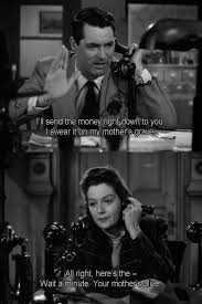Cary Grant Rosalind Russell His Girl Friday Black And White