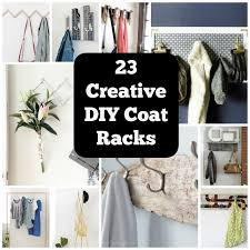 Homemade Coat Rack Simple 32 Clever DIY Coat Rack Ideas For Your Home Cool Crafts