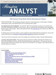 Retirement Plan Rollover Chart Plans Irs Issues Final Roth