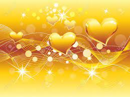 Abstract Golden Heart Background Vector ...