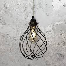 wire cage pendant light. Spiral Cage Pendant Light CLB-00548-Elephant-Grey Wire R
