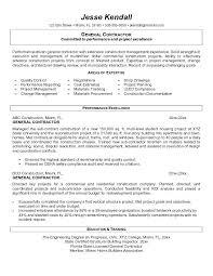 General Contractor Resume Samples Best Of Resume Samples General Benialgebraincco