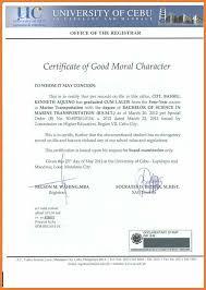 Good Moral Character Letter Sop Proposal