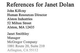 Sample Reference List For Job Sample Reference List For Employment Resume References