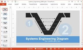 systems engineering v model diagram template for powerpoint v model diagram