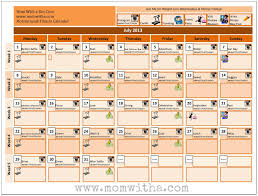 Printable Weight Loss Calendar Health And Fitness Planner. Printable ...