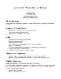 Administrative Assistant Resume Example For Career Objective With