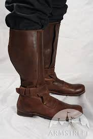 renaissance high leather boots for sca and reenacment for available in crazy horse brown natural leather crazy horse black natural leather by