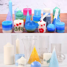3pcs pyramids sphere square shaped plastic clear candle making mould diy candles craft soap mold handmade