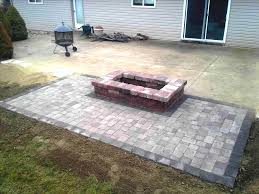patio ideas with square fire pit. Full Size Of Paver How To Build A Diy Howtos Square Fire Pit Ideas Pinterest Stone Patio With D