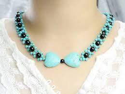 make turquoise bead pendant necklace