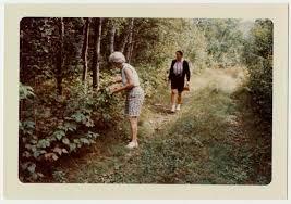 Eleanor Myrick Bump '29, wife of Boardman Bump, gathering berries ...