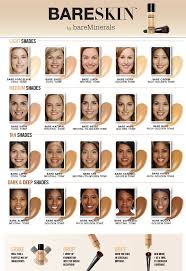 Bareminerals Original Foundation Colour Chart Bareminerals Find Your Perfect Foundation Feelunique Com