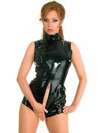 S XXXL <b>Hot Sexy Women</b> PVC Bodysuit <b>Faux Leather</b> Open Crotch ...