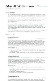 Recruiter Resume Example Recruiter Resume Example Hr Coordinator ...