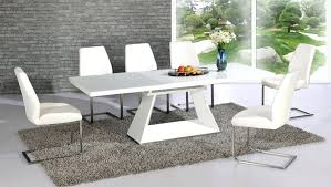 white gloss dining table set round white high gloss dining table and chairs