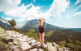 Wallpaper girl, landscape, shorts ...