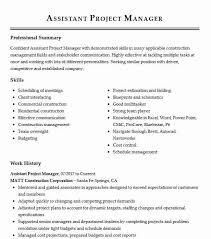 Construction Assistant Project Manager Resume Assistant Project Manager Resume Example Matt Construction